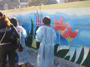 天沼陸橋壁画