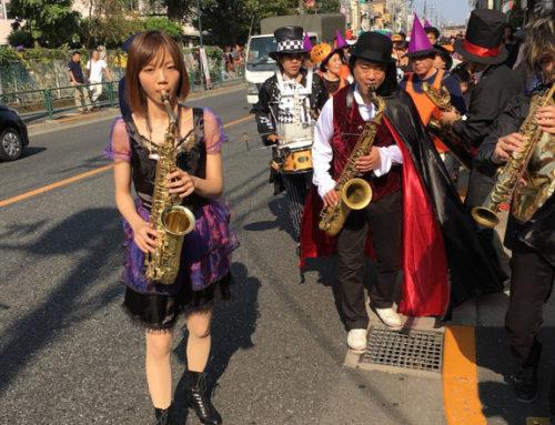 2015年10月 五日市街道沿いの杉成商店会ハロウィンパレード開催支援