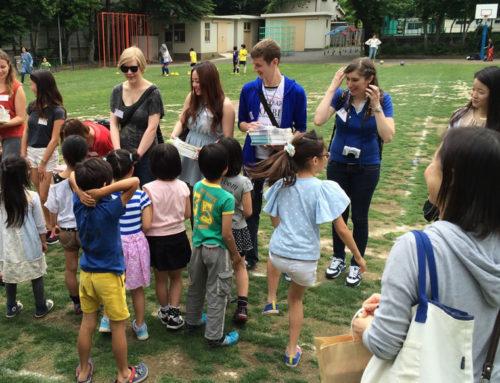 2014年5月 日本語学校への使用済み教科書の贈呈と小学生との国際交流を実施